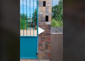 Видео-боль: Вьетнамец построил забор из айфонов