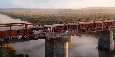 В Африке туристы смогут поселиться в отеле над рекой