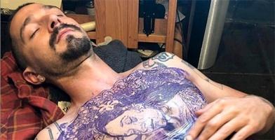Шайа ЛаБаф набил реальную татуировку во всю грудь ради роли в фильме
