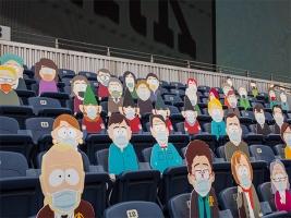 В США персонажи «Южного парка» заменили зрителей на футбольном стадионе